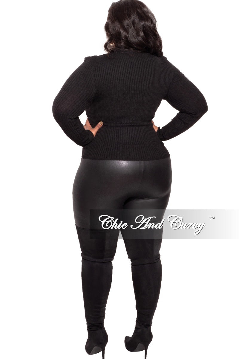 Final Sale Plus Size Faux Leather Leggings