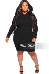 New Plus Size Sheer Bodycon Dress in Black