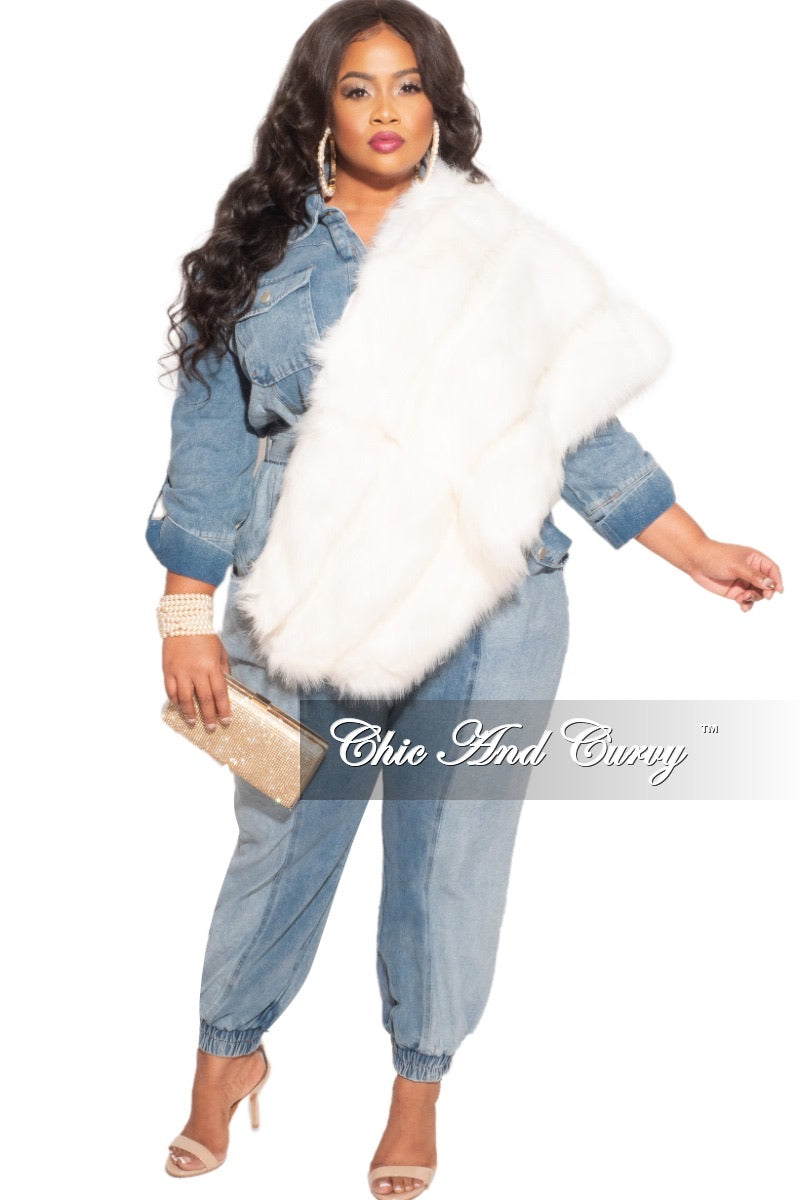 Final Sale Plus Size Oversized Denim Jumpsuit