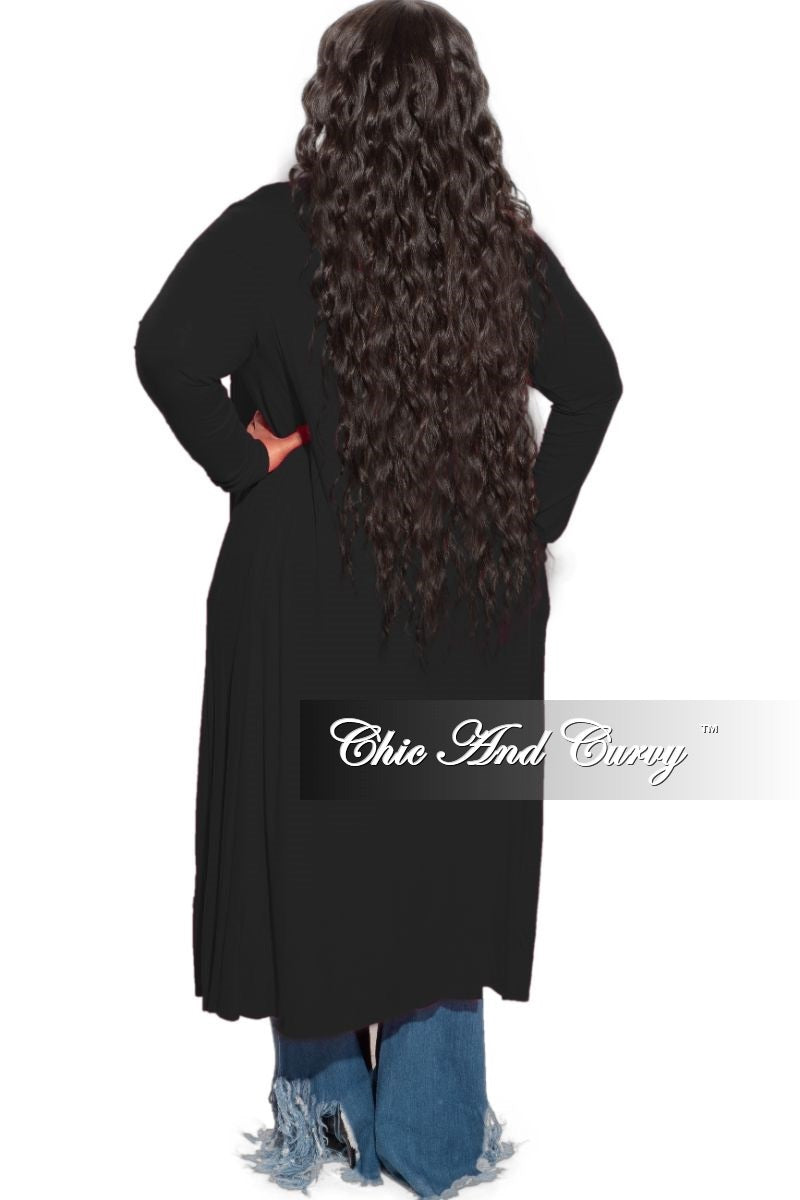 *Final Sale Plus Size Duster in Black