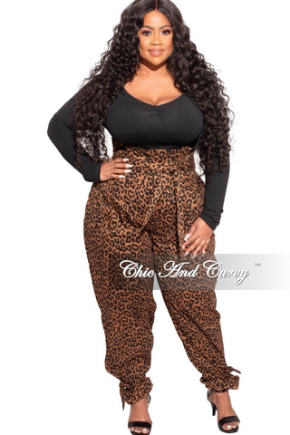 *Final Sale Plus Size 3-pc (Duster, Crop Tank Top & Pants) Ribbed Set in Black