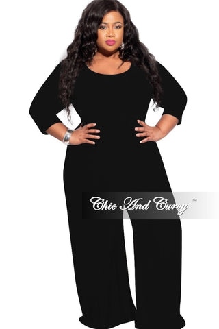 New Plus Size Jumpsuit with Harem Effect in Black
