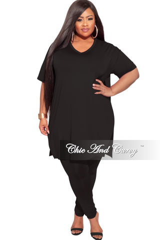 *Final Sale Plus Size 3-pc (Duster, Crop Tank Top & Pants) Ribbed Set in Grey
