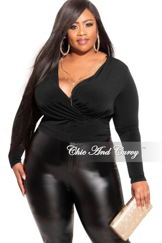 Final Plus Size Pants Suit in Black with Gold Embellishments