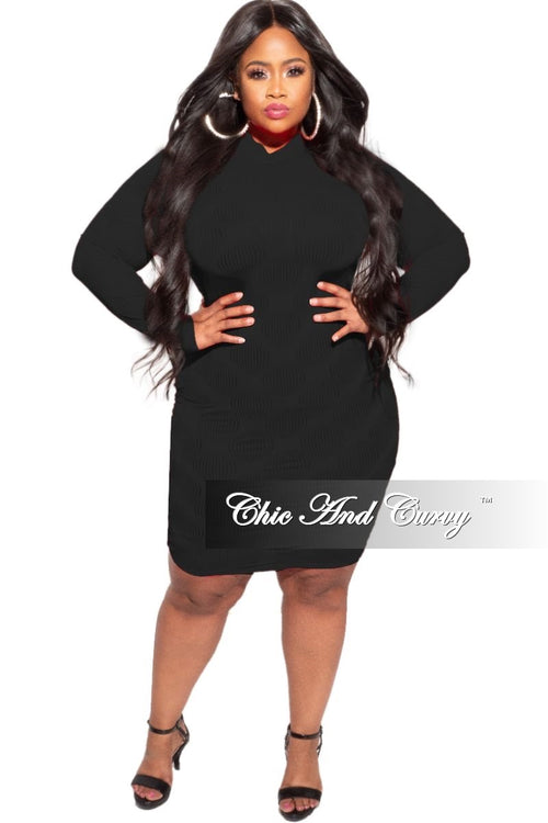*Deal of the Day Final Sale Plus Size Sheer Bodycon Dress in Black