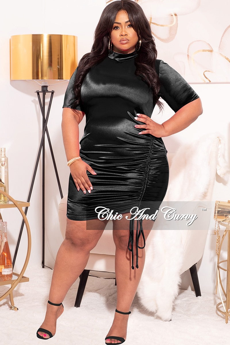 Final Sale Plus Size Bodycon Mini Dress in Black