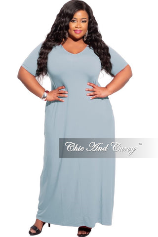 New Plus Size Rolled Sleeve Dress in Dusty Pink