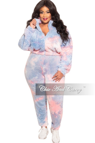 New Plus Size Long Sleeve Jogging Set in Winter White