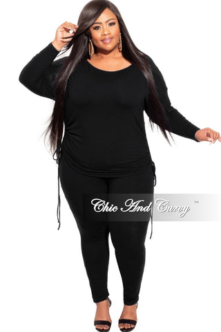 Final Sale Plus Size Long Sleeve Ribbed Top with Puffy Sleeves in Animal Print Love