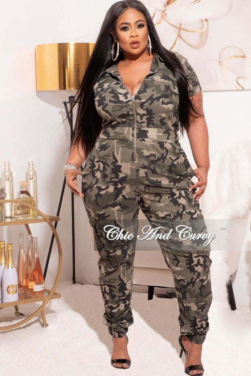*Final Plus Size Jumpsuit in Camouflage