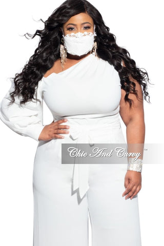 Final Sale Plus Size Sheer Mesh Crochet Fringe Bodysuit in Off White