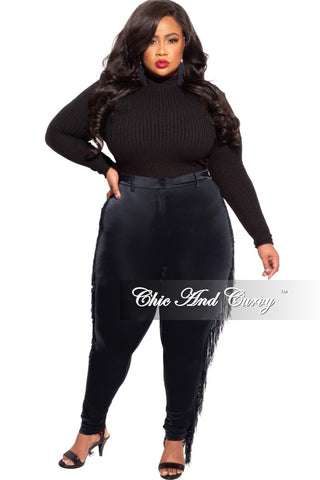 Final Sale Plus Size 2-pc Pants Set with Ruched Top in Black