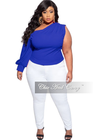 New Plus Size Off the Shoulder Dress in Denim