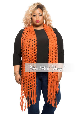 Final Sale Scarf in Burnt Orange