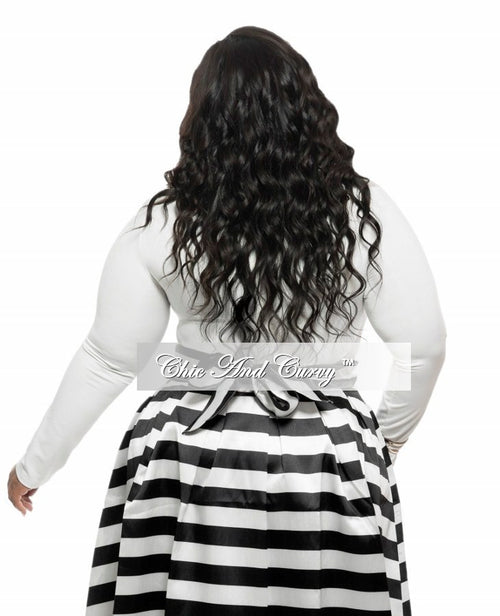 Final Sale Plus Size Leotard with Mesh Cutouts in Off White