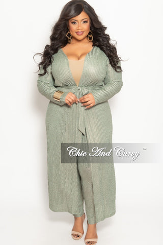New Plus Size Long Wrap Dress with Attached Tie Grey Olive Tie Dye