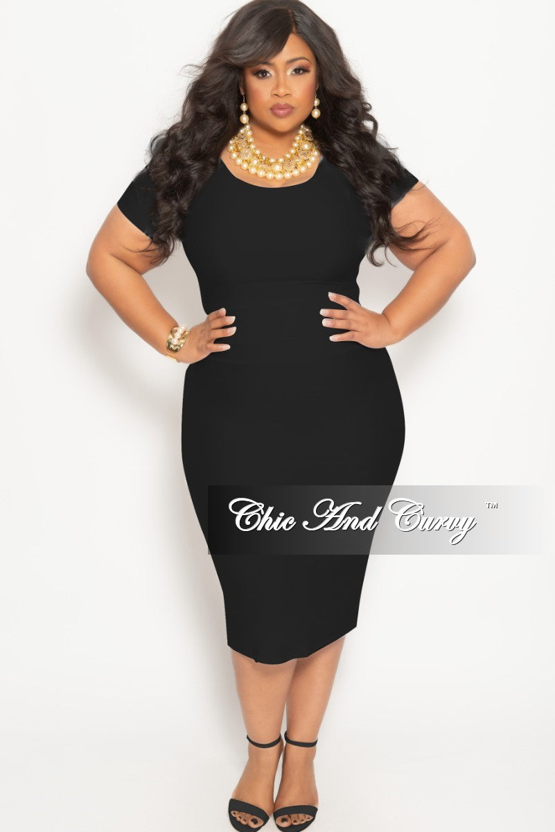 5dcc066bc Final Sale Plus Size 2-Piece BodyCon Skirt and Crop Top Set in Black S –  Chic And Curvy