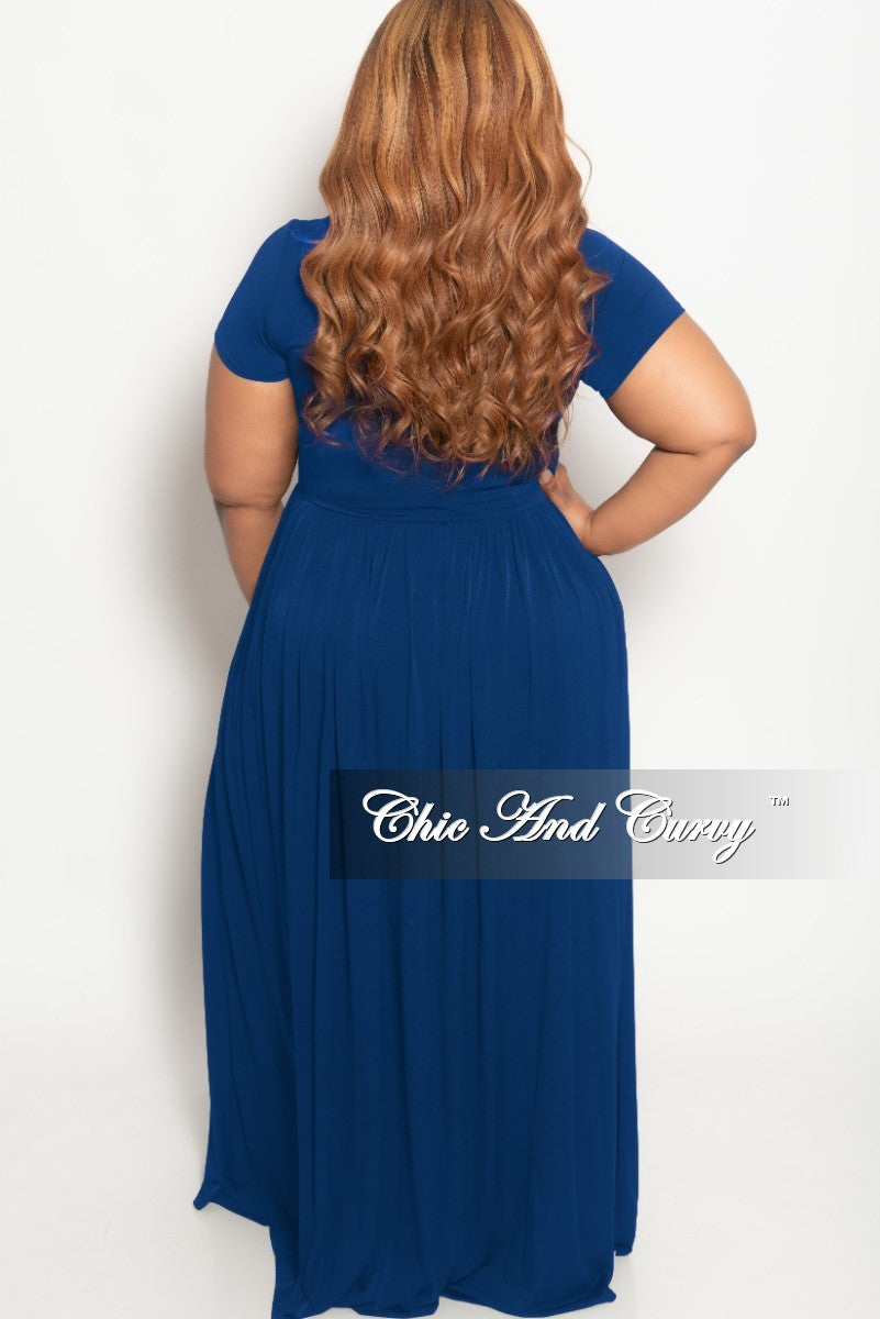 New Plus Size Flowy Maxi Dress in Royal Blue