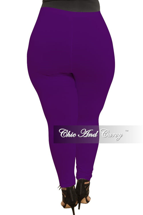 Final Sale Plus Size Leggings in Purple
