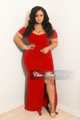 Final Sale Plus Size V-Neck BodyCon Dress with Bell Sleeves in Burgundy