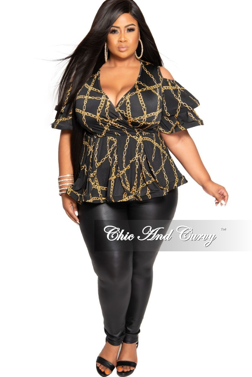 Final Sale Plus Size Liquid Leggings in Black