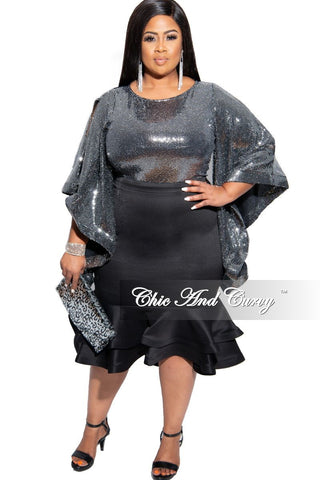 New Plus Size Short Sleeve Pocket Dress in Camouflage Print