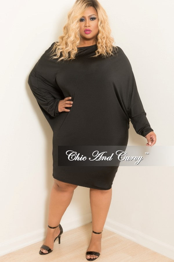 Final Sale Plus Size Sleek Off The Shoulder Dress With 34 Sleeves
