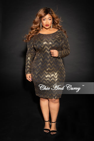 Final Sale Plus Size Sleeveless Sequin Gown in Silver and Black
