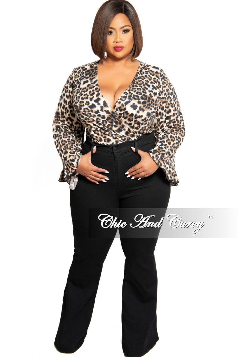 New Plus Size Flare Leg Jeans in Black