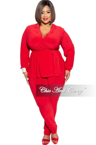 New Plus Size Exclusive Palazzo Pocket Pants in Black