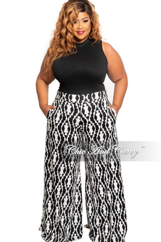 Final Sale Plus Size Chiffon Palazzo Pants in Red