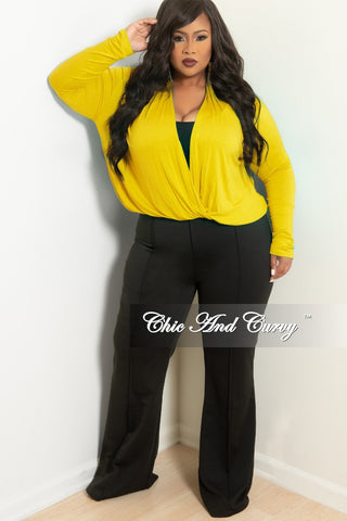 Final Sale Plus Size 2-Piece Duster and Pants Set in Olive