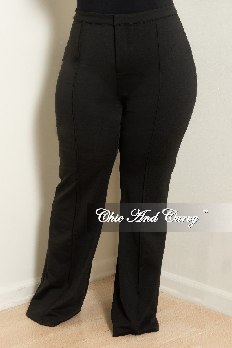 Final Sale Plus Size High-Waist Wide Leg Pants in Black