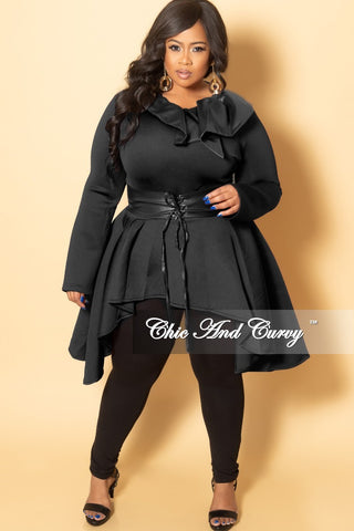 f3c19857e1d New Plus Size Collar Liquid High-Low Corset Top in Black.   74.99. New Plus  Size 2-Piece Jacket and Pants Suit in Black Rose Print