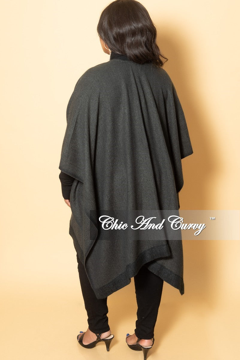 New Plus Size Shawl in Grey
