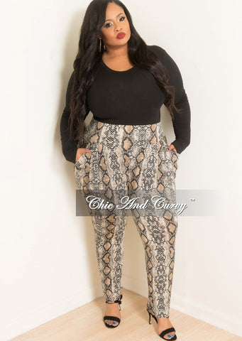 Final Sale Plus Size 2-Piece Hooded Top and Pants Set with Fur Trim In Black