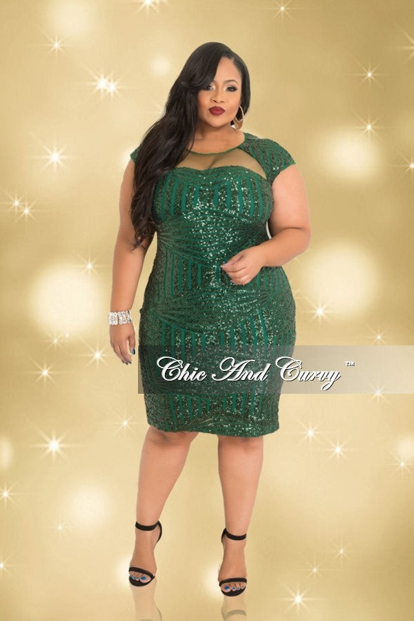 35 Off Sale Final Sale Plus Size Bodycon Dress With Sheer Sequin