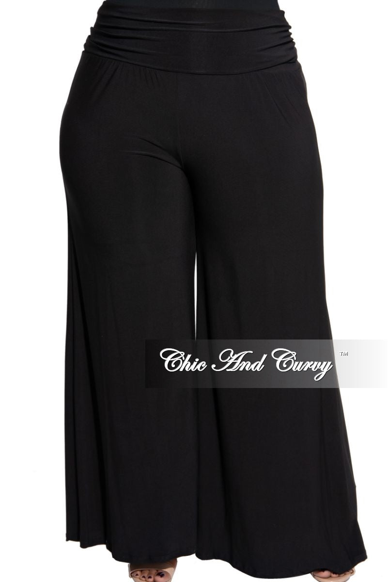 New Plus Size Palazzo Pants in Black
