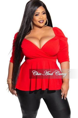 New Plus Size Long Sleeve Top with Knotted Front in Rose Pink