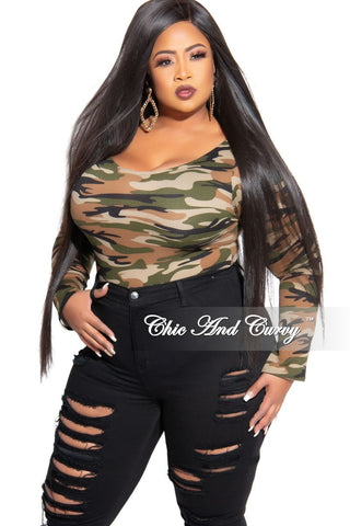 Final Sale Plus Size Long Sleeve Mesh Bodysuit in Black