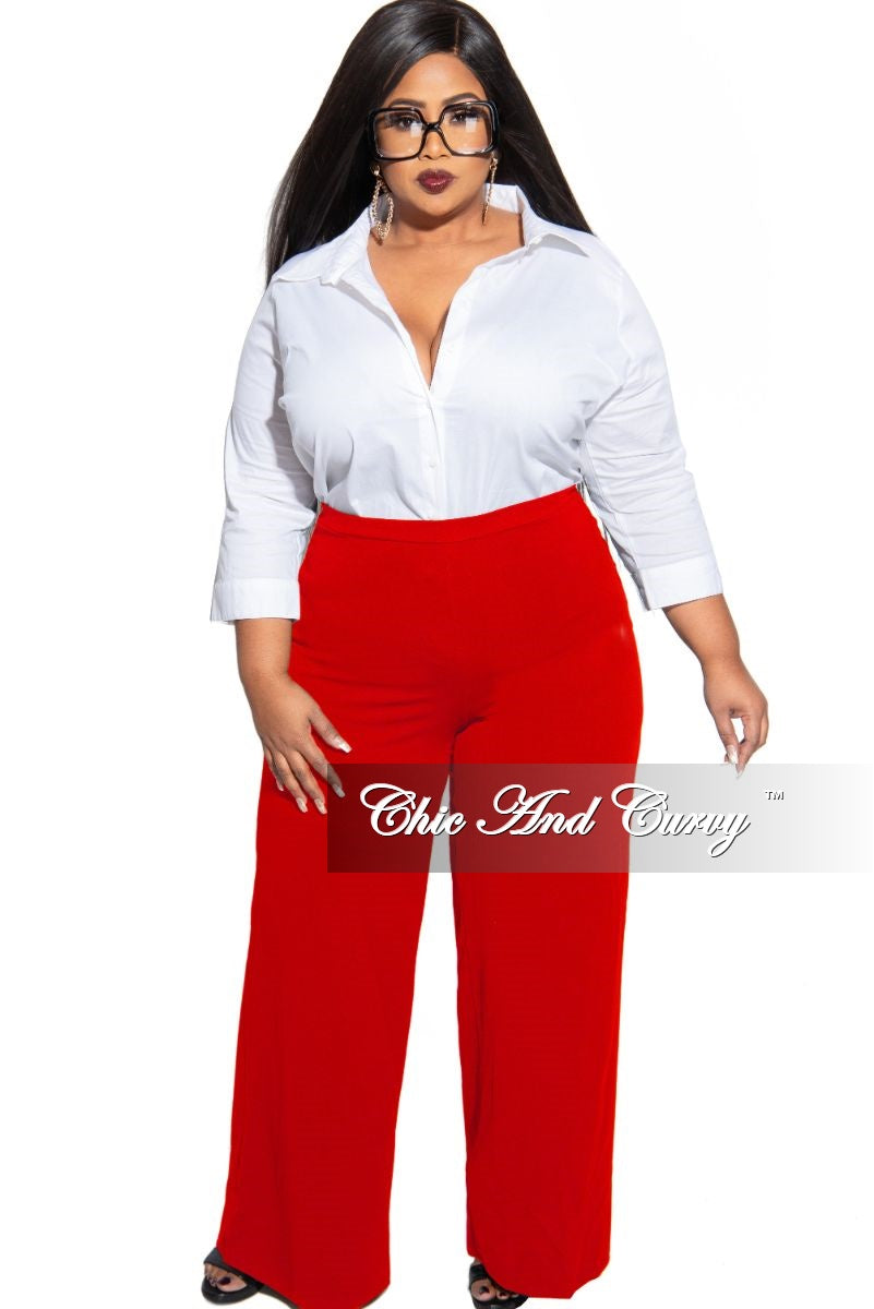 Final Sale Plus Size Blouse with 3/4 Sleeve in White