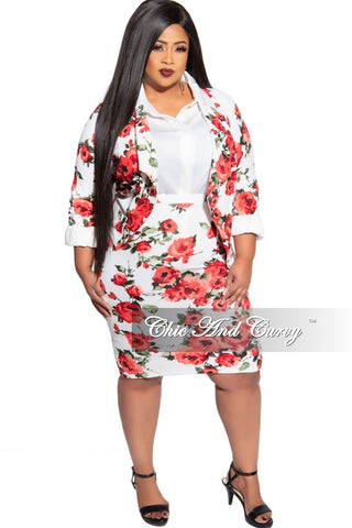 New Size 2-Piece Blazer and Pencil Skirt Set in Animal Print