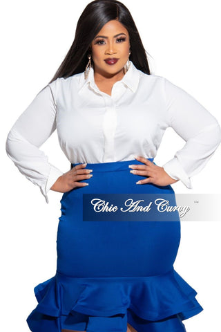 New Plus Size Exclusive Palazzo Pocket Pants in Navy with White Polka Dots