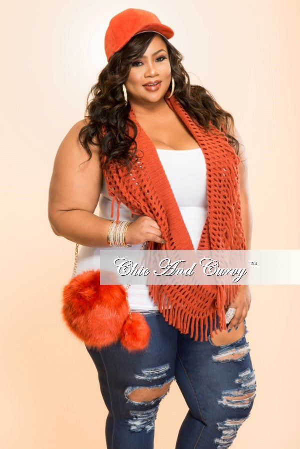 Final Sale - The Total Package: Hat, Scarf and Purse Burnt Orange