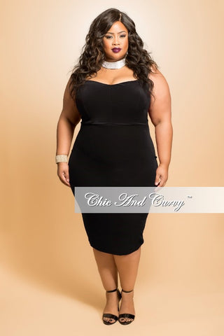 Final Sale Plus Size Faux Wrap Peplum Top with Flutter Sleeves in Black with White Trim