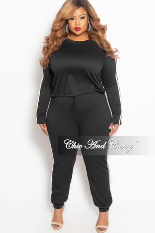 Final Sale Plus Size Tank Jumpsuit with Attached Drawstring in Black