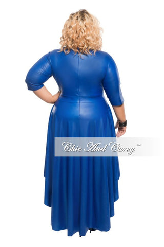 Final Sale Plus Size Liquid Top with Tail in Royal Blue