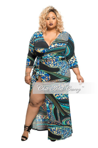 Final Sale Plus Size Exclusive Chic And Curvy Short Sleeve Mermaid Dress in Olive