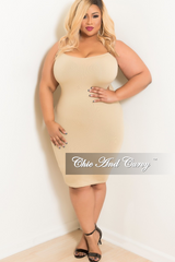Final Sale Plus Size Seamless Camisole Slip/Dress in Nude