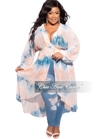 New Plus Size 2-Piece Faux Denim Set in Blue Grey